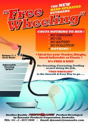 Free Wheeling hand operated outboard